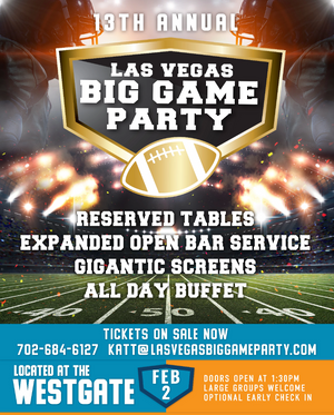 Las Vegas Big Game Party - Bachelor Vegas