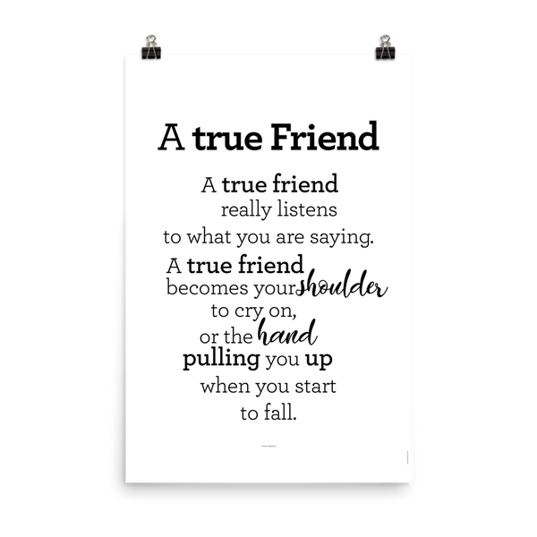 A true Friend - poster / Vinátta - plakat