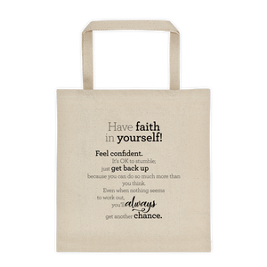 Have faith in yourself! - Tote bag / Hafðu trú á þér! - Taupoki