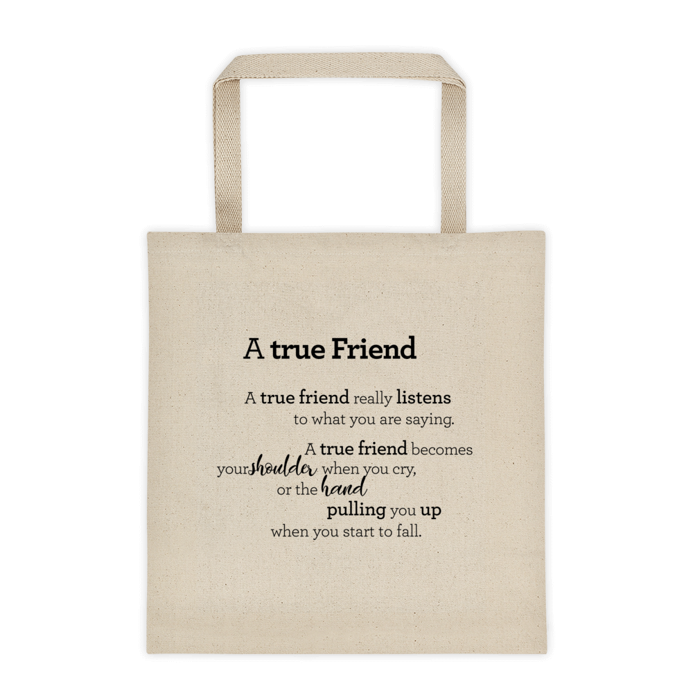 Tote bag - A true Friend / Vinátta - Taupoki