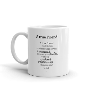 A true friend - Mug / Vinátta - Kanna