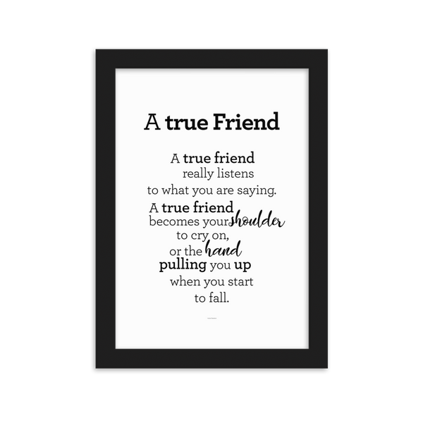 A true friend - Framed Poster / Vinátta - plakat í ramma
