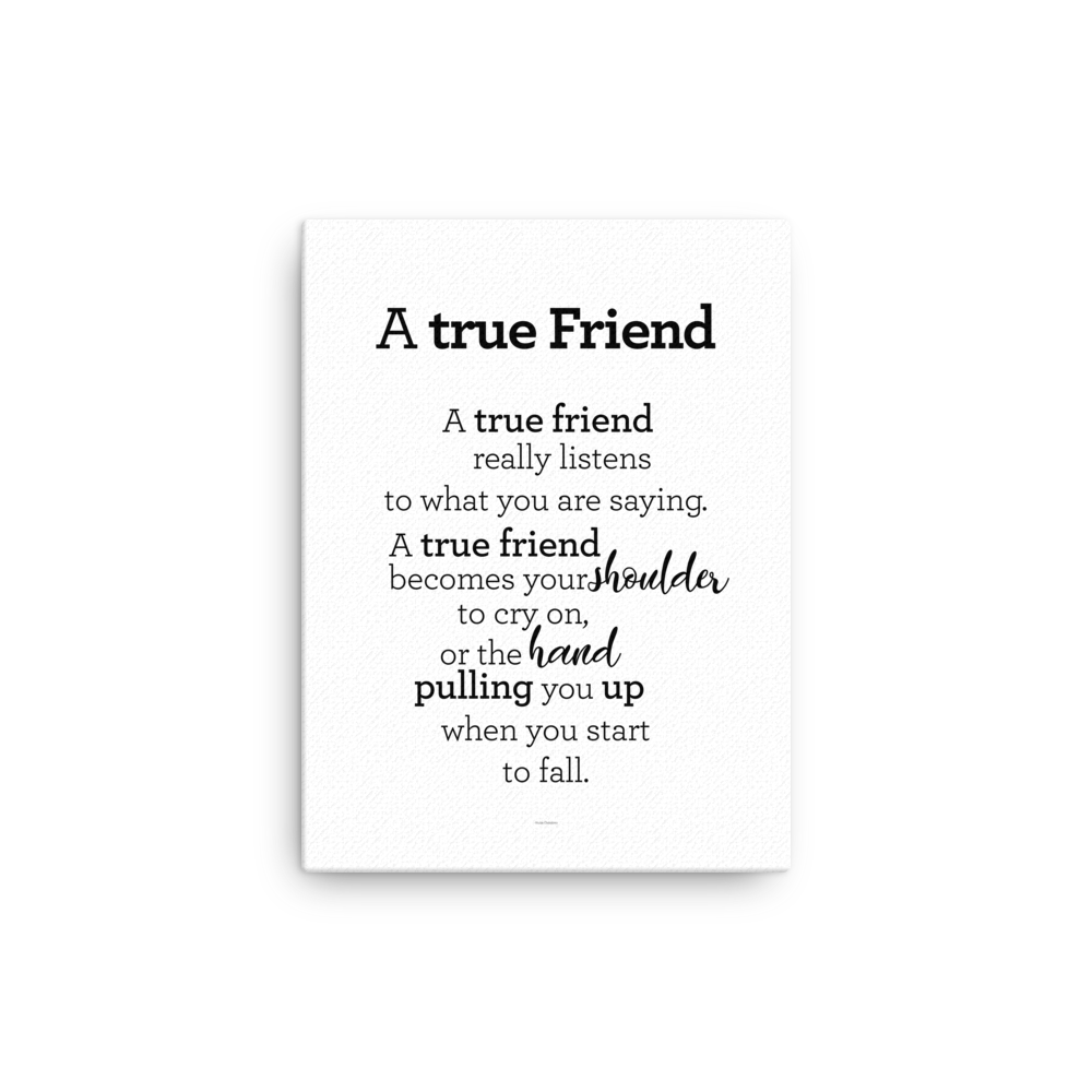 A true friend - Canvas / Vinátta - strigi