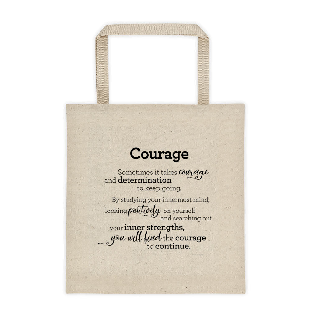Tote bag - Courage / Taupoki - Áræði