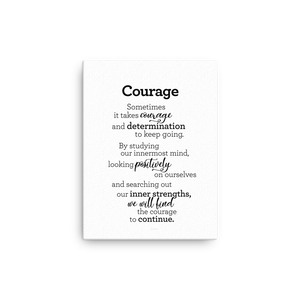 Courage - Canvas / Áræði -Canvas