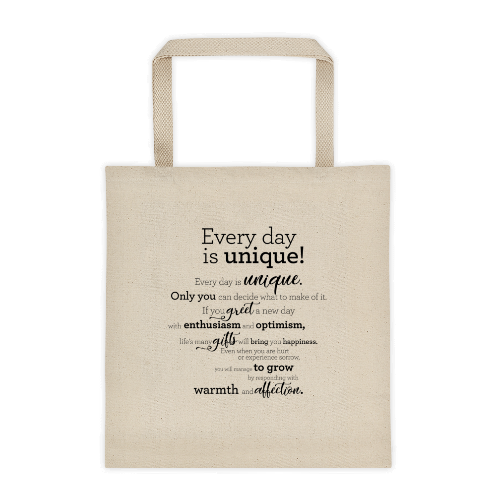 Every day is unique - Tote bag / Hver dagur er einstakur - Taupoki