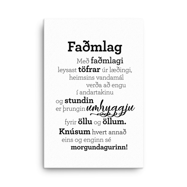 Hugging - Canvas / Faðmlag - strigi