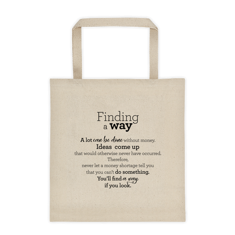 Finding a way - Tote bag / Finndu leið - Taupoki