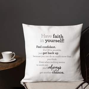 Have faith in yourself - Pillow / Hafðu trú á þér! - Púði