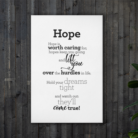 Hope - Canvas / Vonin - Strigi