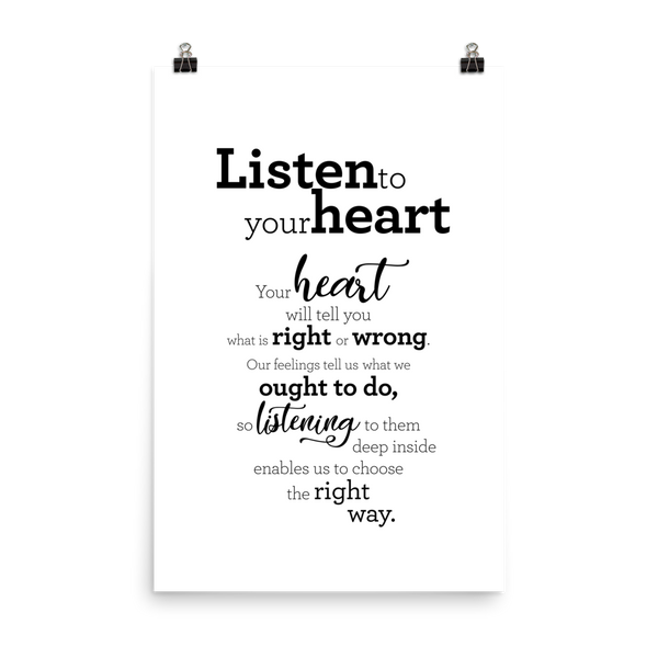 Listen to your heart - Poster