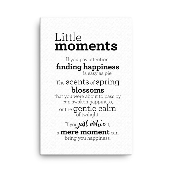 Little moments - Canvas / Litlu augnablikin - Strigi