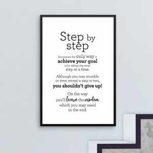 Step by step - Framed Poster