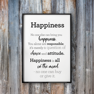 Happiness - Framed Poster