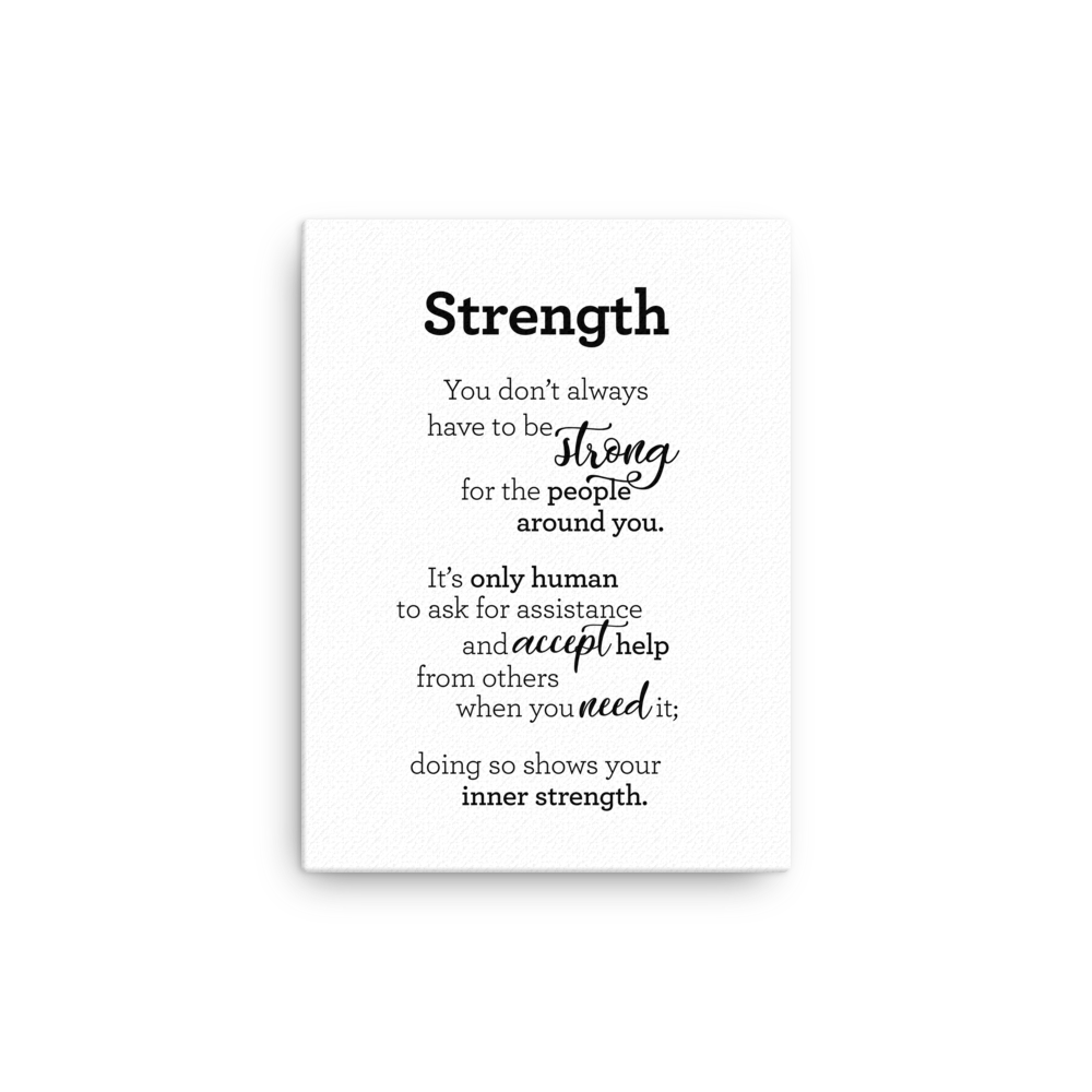 Strength - Canvas / Styrkur - Strigi