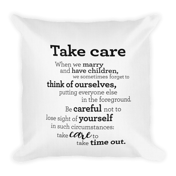 Take care - Pillow / Mundu - Púði