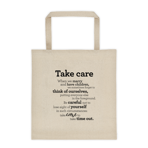 Take care -Tote bag  / Mundu - Taupoki
