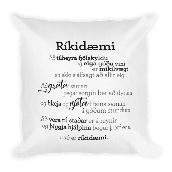 Treasures - Pillow / Ríkidæmi - púði