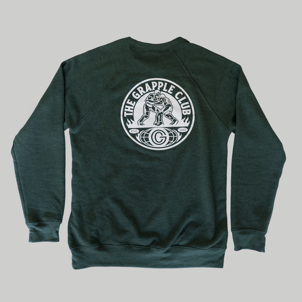 The Grapple Club - Vintage Sweatshirt - Forrest Green