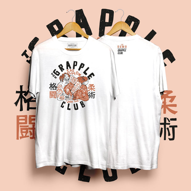 Half Sumo X Grapple Club - White Tee