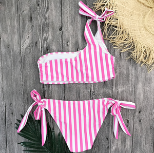 Stripe On Pink Bikini