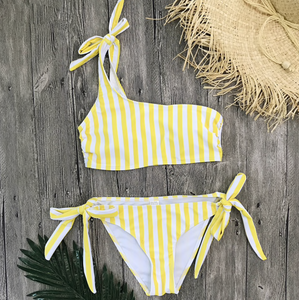 Stripe On Yellow Bikini