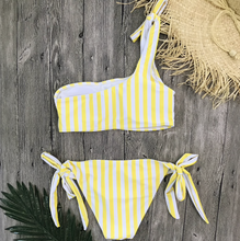 Load image into Gallery viewer, Stripe On Yellow Bikini
