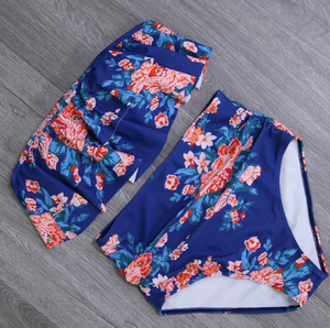 On A Flower Trip High Waist Bikini Set