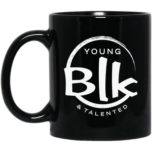 White Splash 11 oz. Black Mug