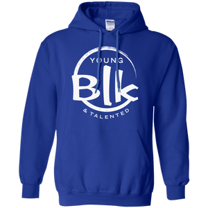 Young Blk & Talented White Splash Hoodie
