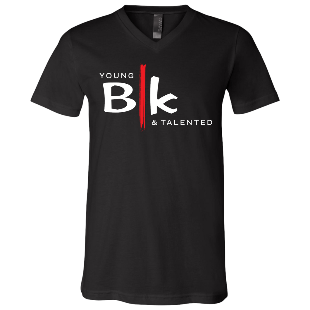 YB&T Blk V-neck Tee - Young Blk & Talented