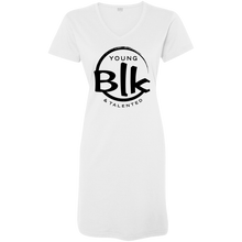 Load image into Gallery viewer, YB&T Black Splash Ladies' V-Neck Fine Jersey Cover-Up - Young Blk & Talented