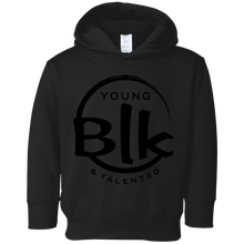 Load image into Gallery viewer, YB&T Black Splash Toddler Fleece Hoodie - Young Blk & Talented