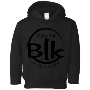 YB&T Black Splash Toddler Fleece Hoodie - Young Blk & Talented