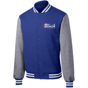 YB&T Classic Embroidered Letterman Jacket - Young Blk & Talented