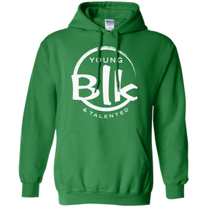 Young Blk & Talented White Splash Hoodie - Young Blk & Talented