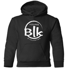 Load image into Gallery viewer, YB&T White Splash Toddler Pullover Hoodie - Young Blk & Talented