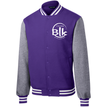 Load image into Gallery viewer, YB&T Splash Embroidered Letterman Jacket - Young Blk & Talented