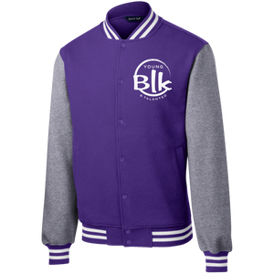 YB&T Splash Embroidered Letterman Jacket - Young Blk & Talented