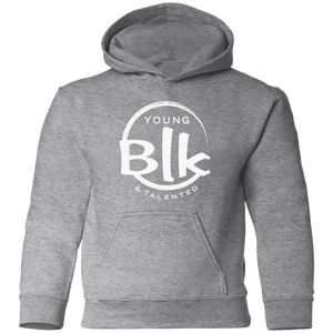 YB&T White Splash Toddler Pullover Hoodie - Young Blk & Talented