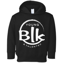 Load image into Gallery viewer, YB&T White Splash Toddler Fleece Hoodie - Young Blk & Talented