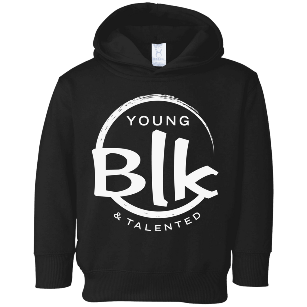 YB&T White Splash Toddler Fleece Hoodie - Young Blk & Talented