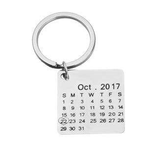 Stainless Steel Personalized Calendar  Keychain - Young Blk & Talented