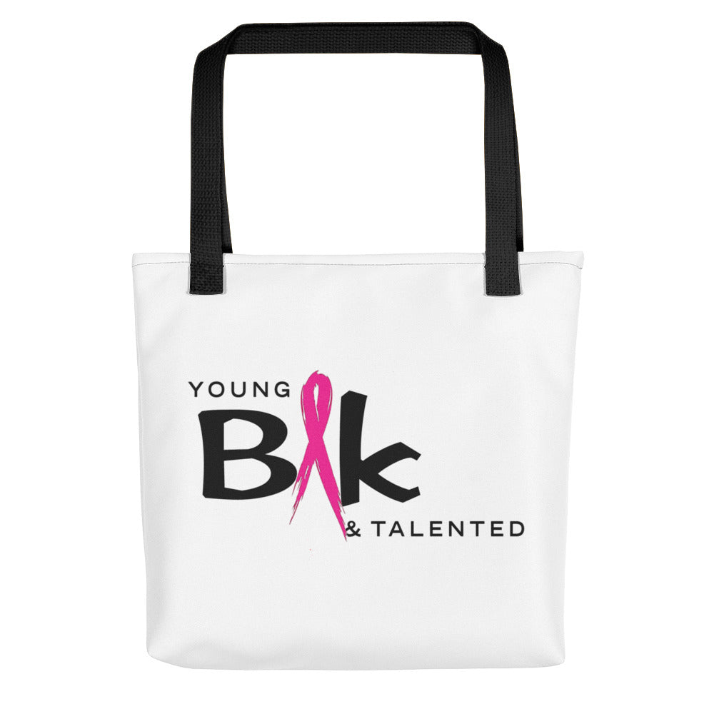 YB&T Breast Cancer Tote bag - Young Blk & Talented