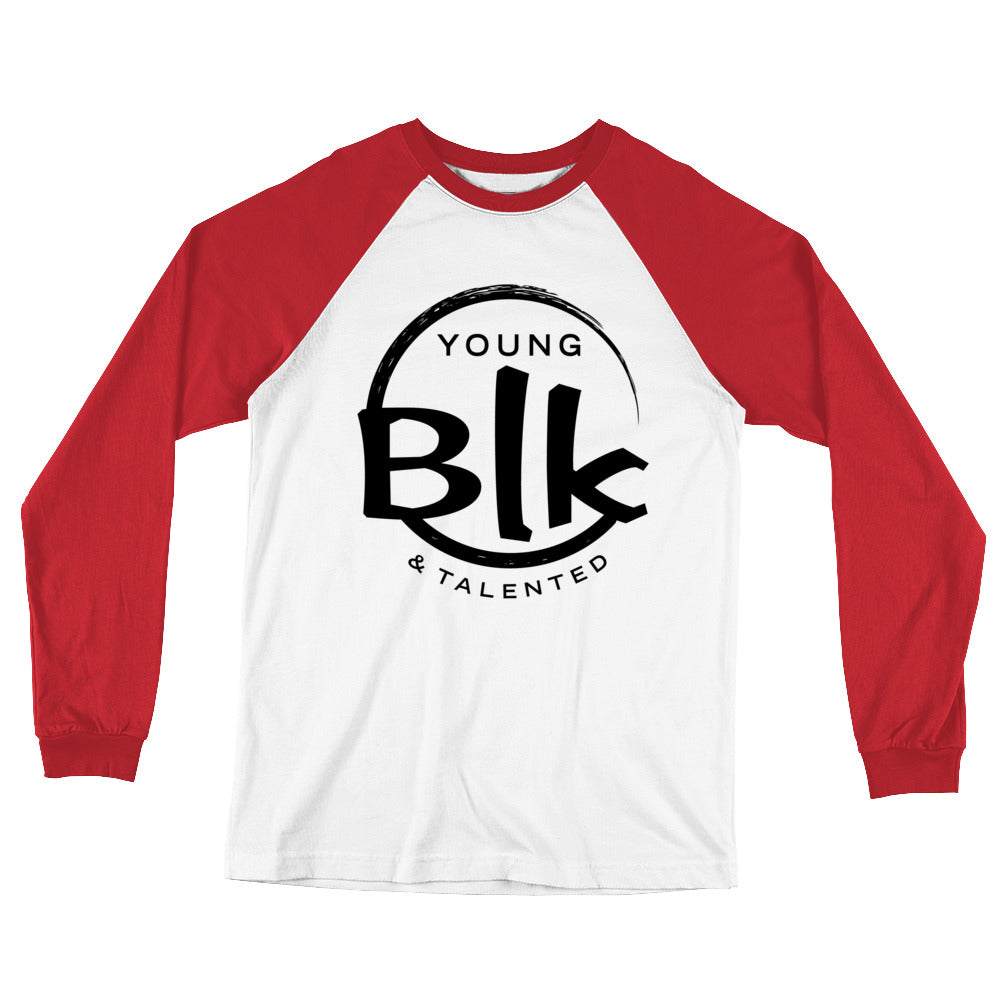 YB&T Long Sleeve Splash Baseball T-Shirt - Young Blk & Talented