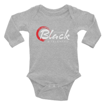 Load image into Gallery viewer, Classis YB&T Infant Long Sleeve Bodysuit - Young Blk & Talented