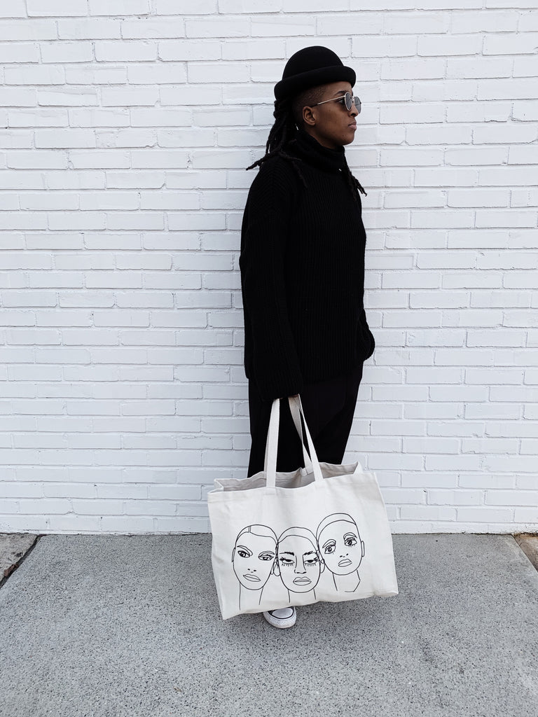Faces Tote (natural)