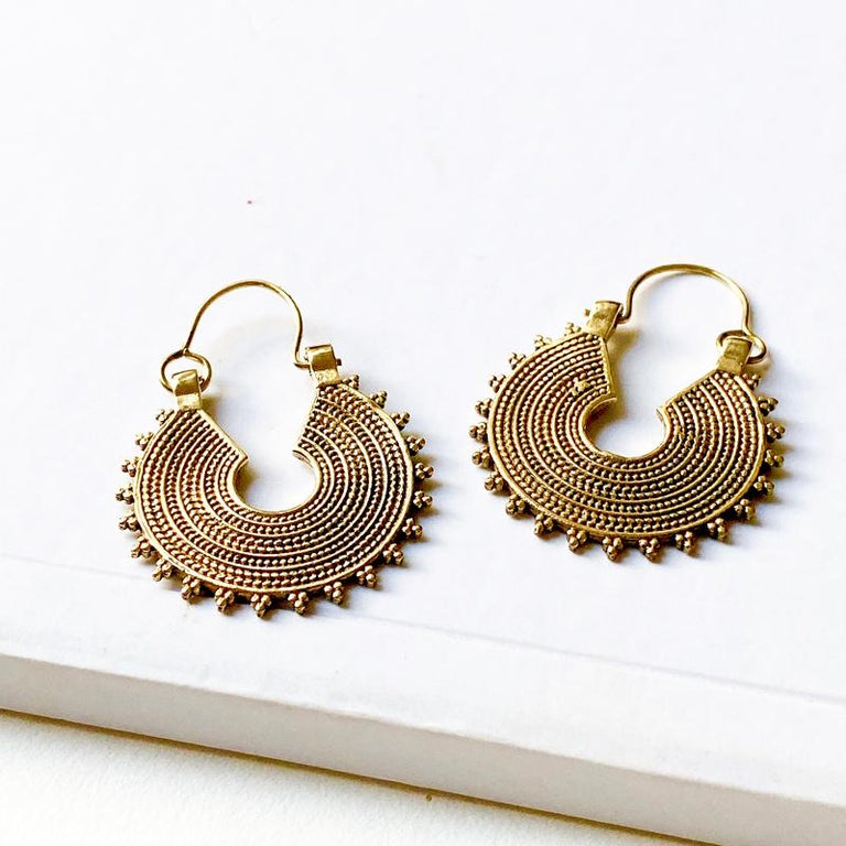 Vina Brass Earrings