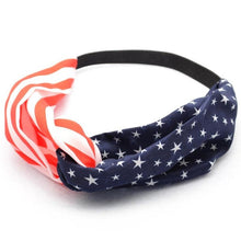 Women American Flag Sporting Sweatband Stretch Headband