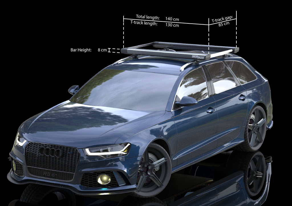Dropracks next generation roof rack with dimensions